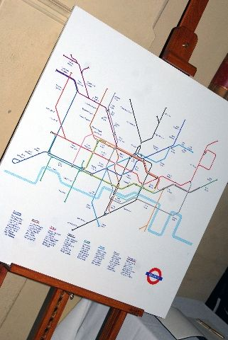 fun idea using underground map for table plan. could be used with any kind of map or plan...?