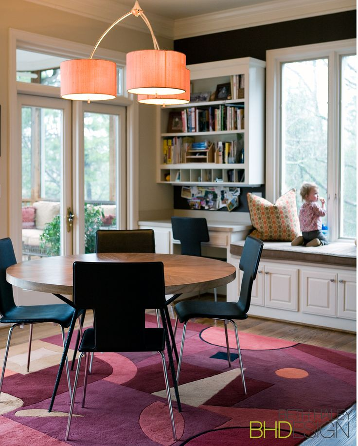 Playroom/ Office with Fun Rug