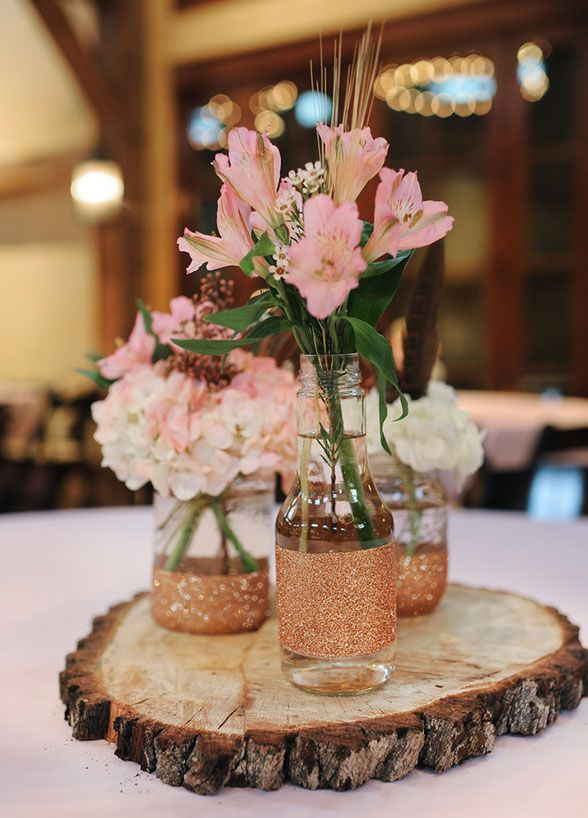 Best ideas about rose gold centerpiece on pinterest