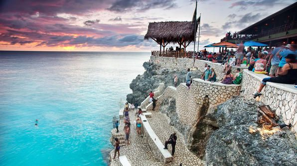 Best Beach Bars: Rick's Cafe, Negril, Jamaica: Rick Cafes, Negril Jamaica, Cliff Jumping, Buckets Lists, Sandy Beach, Favorite Places, Places I D, Travel, Cafes K-Cup