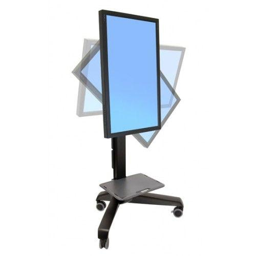 Pedestal para pantalla giratorio móvil Neo-Flex LD, gira, ajusta la altura, con ruedas, con bandeja. http://pcalmacen.com