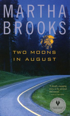 Two Moons in August by Martha Brooks. A year after her mother's death, sixteen-year-old Sidonie still spends sleepless nights playing cards with her cat, Bogie. During the day she lies around and reads under the nose of her nineteen-year-old sister, Roberta, who angrily scrubs floors that are already clean and cooks meals that are inedible. Their father, a doctor, comes home when he is too exhausted to remain at work. Only the jazz piano-playing of Roberta's new boyfriend, Phil, brings some…
