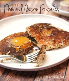 Paleo Pear and Bacon Pancakes (yup, the bacon is IN the pancake!) #PancakeParty — Foraged Dish