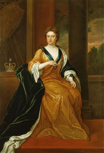 Queen Anne is remembered for achieving the Union of England and Scotland and bringing the War of the Spanish Succession to a conclusion. And although she endured 17 pregnancies, Anne left no heir, and her Protestant cousin, George of Hanover, succeeded her in 1714. (Queen Anne by Charles Jervas. Public domain via Wikimedia Commons) #queenanne #greatbritain #womeninhistory