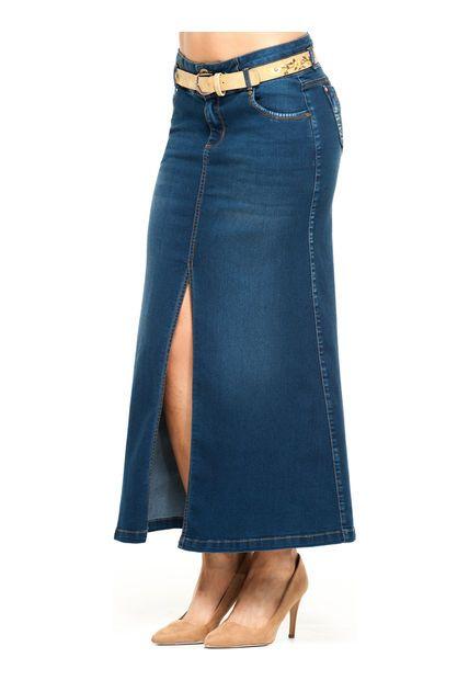 05ee8149a9 Modelos de faldas de jean largas  faldas  largas  modelos  modelosdeFalda