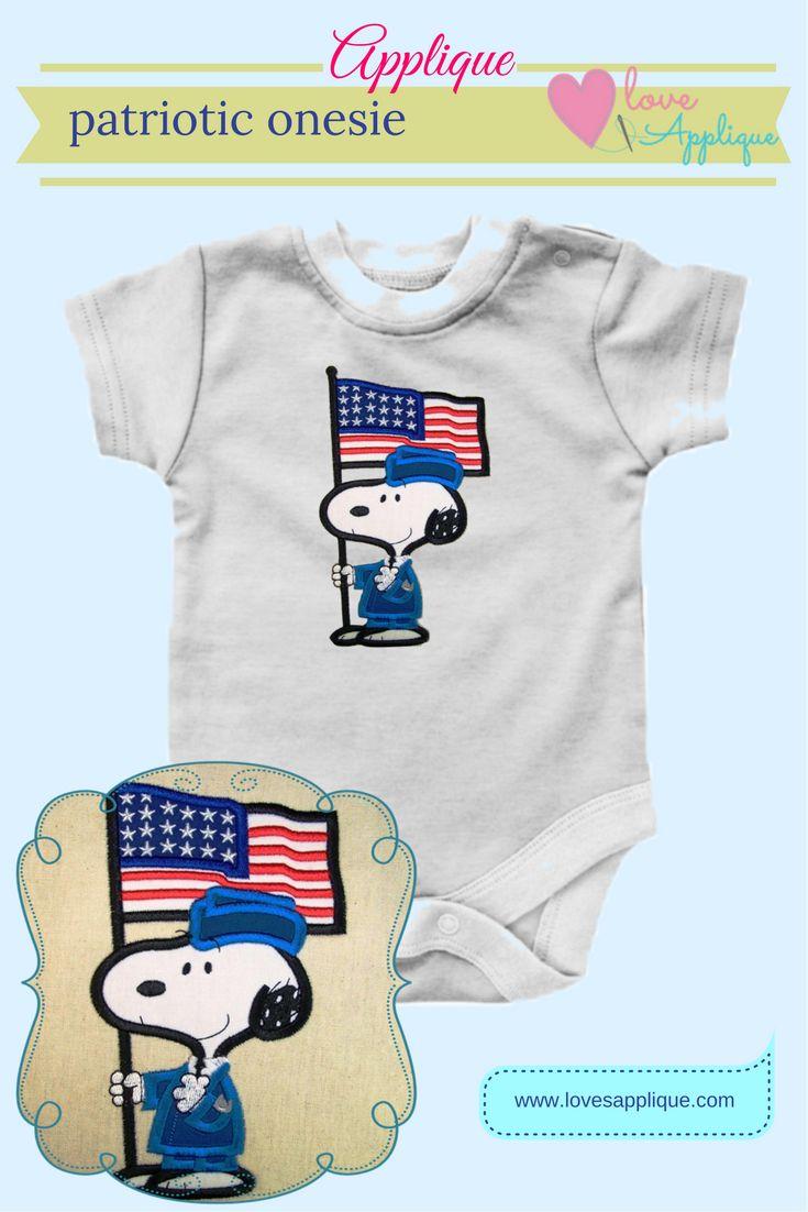 4th of July Applique. Snoopy Patriotic. Snoopy Applique. Snoopy and Peanuts. Patriotic Applique and Embroidery. Disney Applique . www.lovesapplique.com