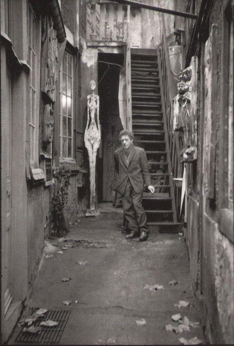 1961. Jean Mounicq. Alberto Giacometti, Paris