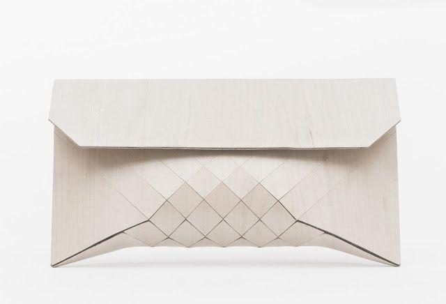 Telser + Mendelovitch wooden clutch