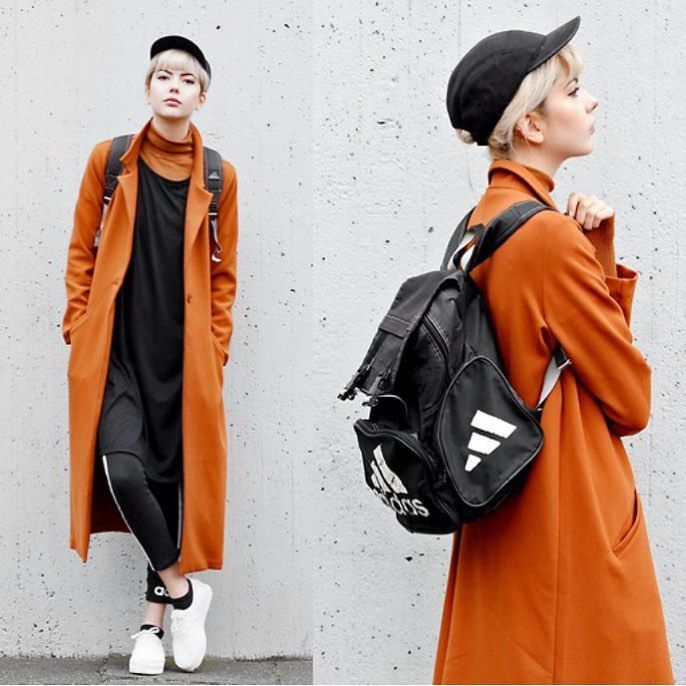 You can try this orange coat