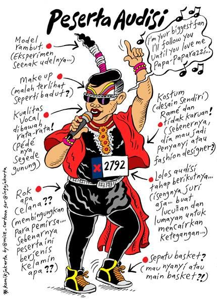 Mice Cartoon: Peserta Audisi (@Carol Danforth jakarta)