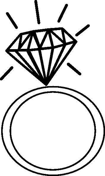 Engagement Ring Cartoon Clip Art 9