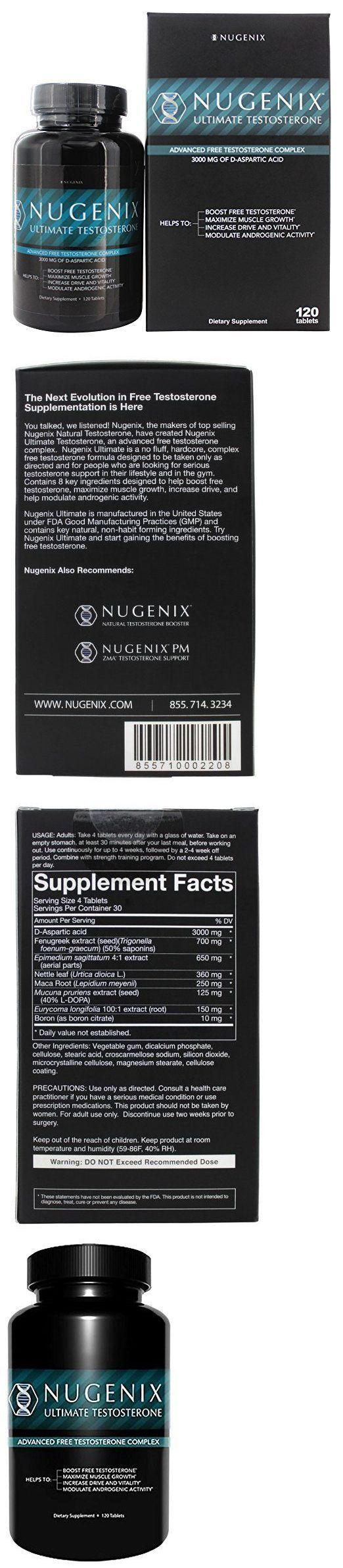 Other Sports Supplements: Nugenix Ultimate Testosterone 120 Tablets - Brand New - Quick Shipping BUY IT NOW ONLY: $59.99