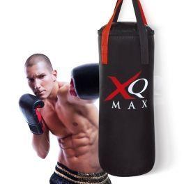 Gosta deste equipamento de boxe profissional? É perfeito para fazer exercício em casa! Este saco de boxe para adultos com acessórios irá ajudá-lo a manter-se em forma sem ter que ir ao ginásio. Para além disso, é também muito divertido!   Inclui: 1 saco de boxe profissional (aprox. 75 cm de altura x 30 cm de diâmetro e 14 kg de peso) 1 par de luvas de boxe ajustáveis (aprox. 25 cm de comprimento) 1 mosquetão de rotação dupla para pendurar o saco de boxe no teto 1 corda de saltar ajustável.