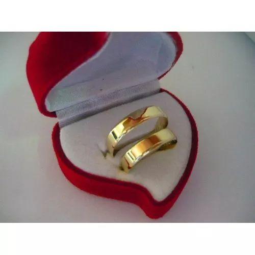 Al3g      Ouro Maciço Par Alianças 18k - R$ 574,00