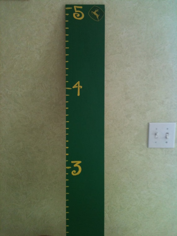 John Deere growth chart- put symbol next to height each time measured....could measure and take picture 1st day of school and on the last day of school(could take picture in shirt with graduation year on it)