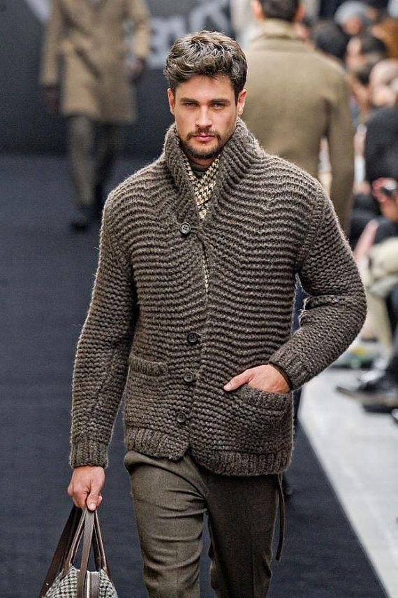Men's hand knit cardigan 24A – KnitWearMasters