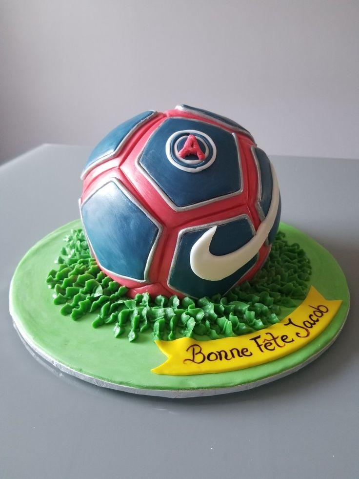 Nike soccer ball birthday cake