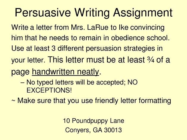 43 best Persuasive Letter images on Pinterest Handwriting ideas - assignment letter