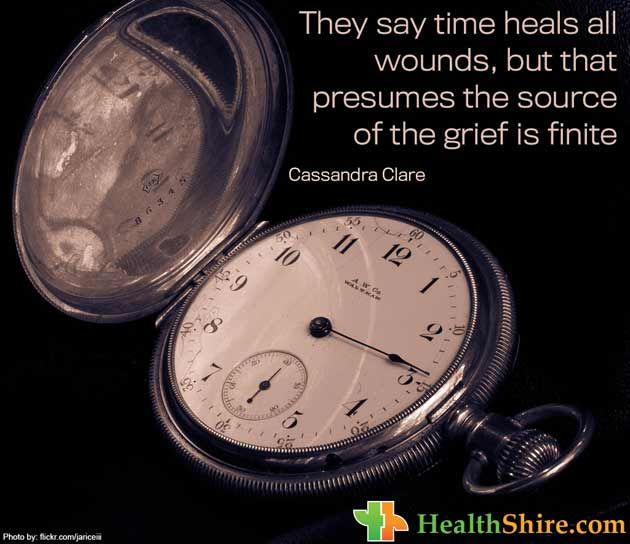 They say time heals all wounds, but that presumes the source of the #grief is finite