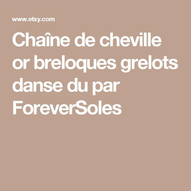 Chaîne de cheville or breloques grelots danse du par ForeverSoles