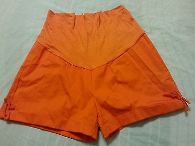 Women's Maternity Shorts Sz M Orange