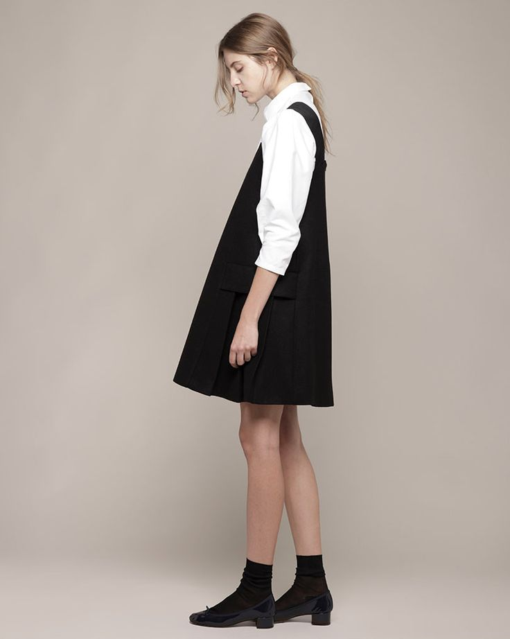 Pinafore's are ideal for students! Paired with some boots, a shirt and a statement necklace you will be picture perfect!!