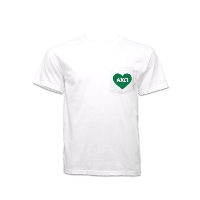 Have you seen? Alpha Chi Omega P... Shop http://manddsororitygifts.com/products/alpha-chi-omega-pocket-shirt-heart?utm_campaign=social_autopilot&utm_source=pin&utm_medium=pin