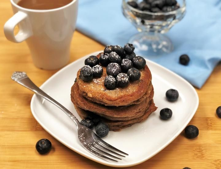 Blueberry Sour Cream Pancakes Recipe In 2020 Sour Cream Pancakes Sweet Cream Pancakes Recipe Blueberry Recipes