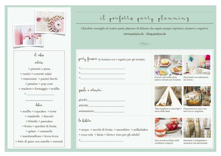 Il perfetto party planning