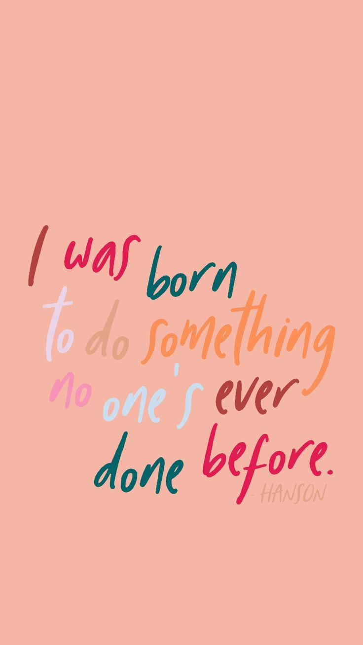 I was born to do something no one's ever done before  | #inspirationalquotes #mo... I was born to do something no one's ever done before  | <a class=