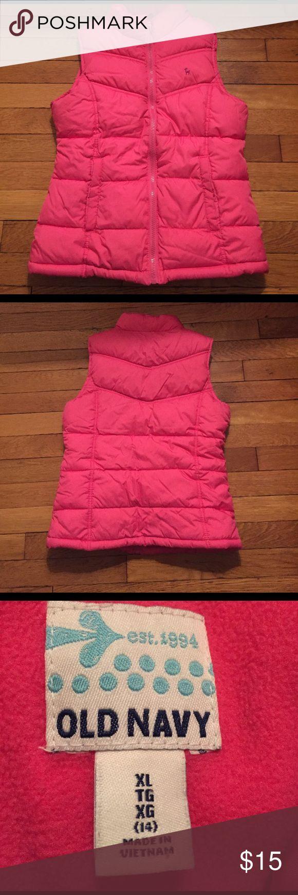 Like new Old Navy vest Like new pink old navy vest size 14 Old Navy Jackets & Coats Vests