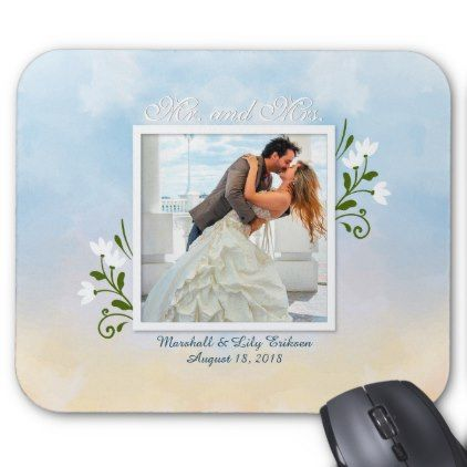 Elegant Add Your Own Photo Wedding | Mousepad - anniversary cyo diy gift idea presents party celebration
