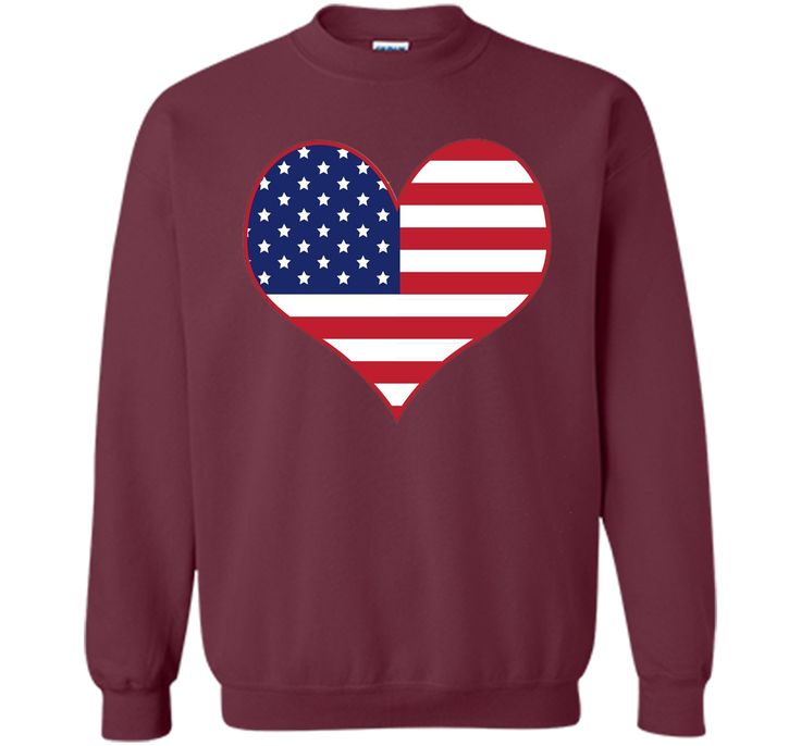 Happy Independence Day - American Flag Heart T-shirt