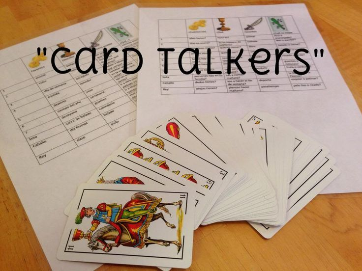 "Debbie's Spanish Learning: ""Card Talkers"" {Of Playing Cards and Conversations}"