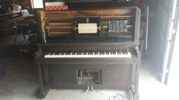 We have a gorgeous fully-functional 1920s Waltham Upright Grand Player Piano for sale. It is in great operational order, clean inside and out, and has had a new cord put on it, (the original was crushed by the wheels and needed a new one) Otherwise it is completely original. Rolls on