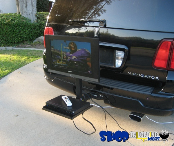 Hitch-N-View Portable TV Mount | Tailgating Gear Store | Be the envy of the parking lot