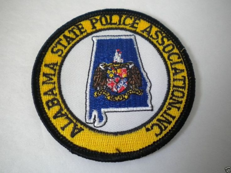 Alabama State Police Association Patch Police Patches