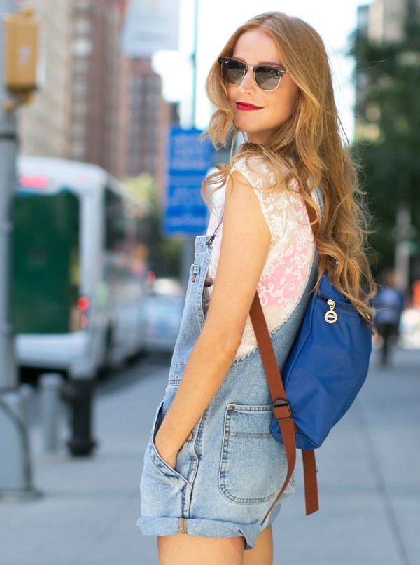 Trending Street Style at New York Fashion Week Spring Summer 2014: Backpack #Bag #spring2014 #trending