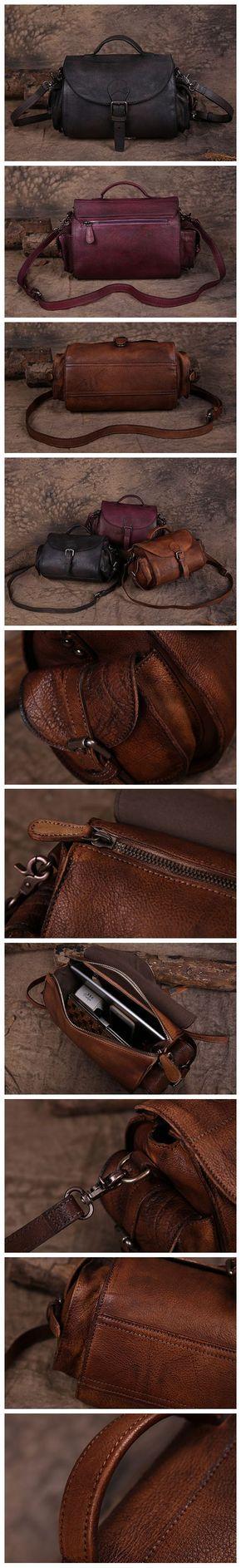 Handmade Vintage Leather Bag, Travel Bag, Ladies Messenger Bag, Sling Bag 180082
