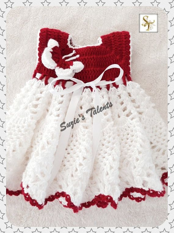 SPECIAL OCCASION DRESS  Crochet Baby Spring Dress by SuziesTalents, $28.00