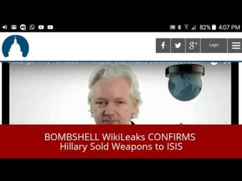 BOMBSHELL WikiLeaks CONFIRMS Hillary Sold Weapons - YouTube
