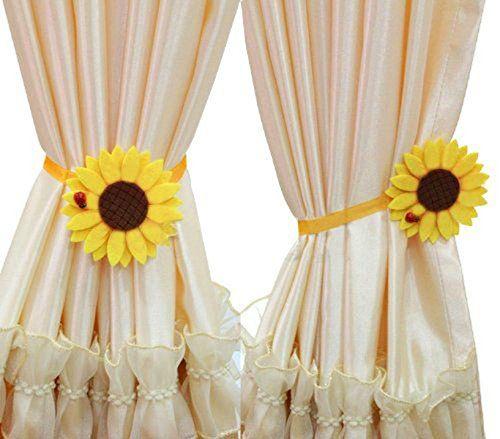 Ayygift 1 Pair Sunflower Curtain Magnetic Tiebacks Non-wo... https://www.amazon.com/dp/B00K63H7LG/ref=cm_sw_r_pi_dp_x_GhaFyb9MD1VMK