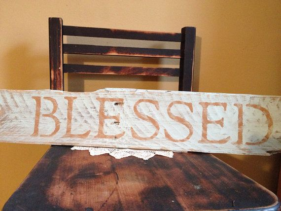 Blessed pallet sign, barn board, pallet art, primitive ...