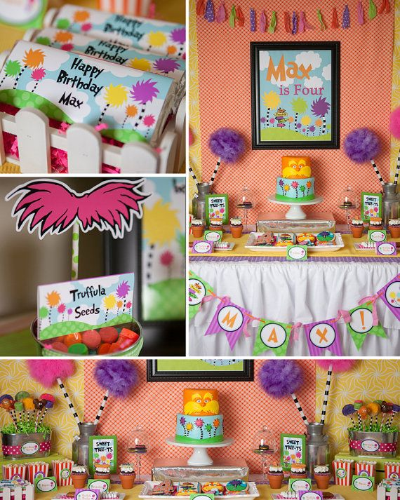 Speak For The Trees Birthday Party  Dr. by LillianHopeDesigns