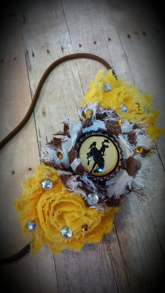 Hey, I found this really awesome Etsy listing at https://www.etsy.com/listing/207394163/wyoming-cowboys-headband-officially