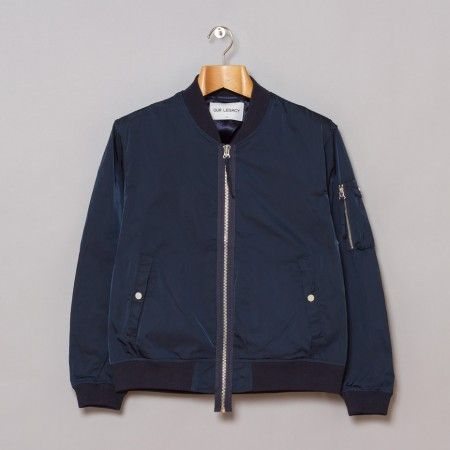 Noel Gallagher Oil Blue bomber jacket