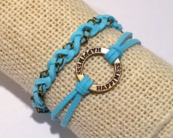 To Polish Or Not? Spread happiness!  This blue faux suede braided bracelet is youthful and fun. It is light, smooth and soft on the skin. Secured with a lobster