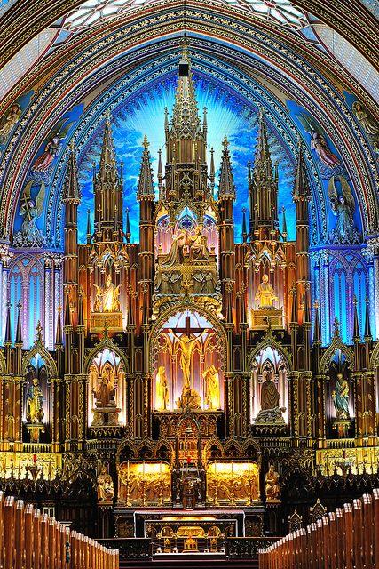 Notre-Dame Basilica of Montreal   Flickr: Intercambio de fotos - took my breath away!
