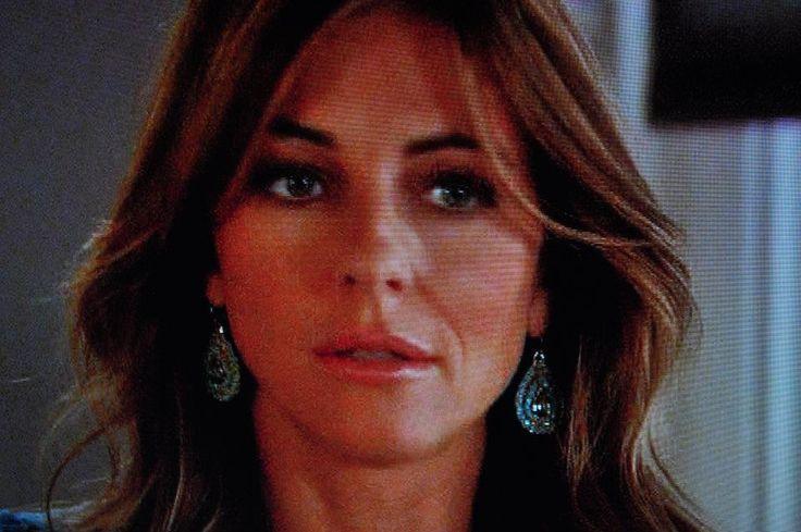 "Vintage Chelsea Earrings in Turquoise Earrings as seen on Gossip Girl's Elizabeth Hurley as ""Diana"". Diana Warner Nashville 615-915-3515 call today!"