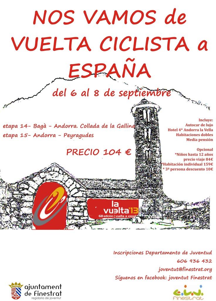 Vente a ver la vuelta ciclista a España con Finestrat!! Del 6 al 8 de septiembre